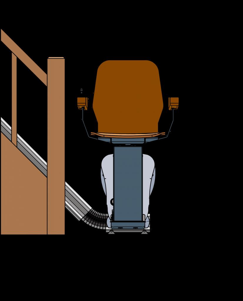 UP traplift afmetingen voorkant